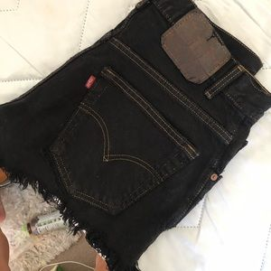 Black Denim Levi's Shorts